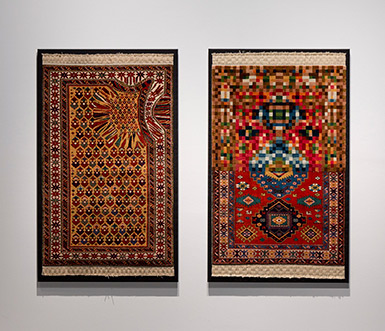 Hollow, Pixellate Tradition by Faig Ahmed, Jameel Prize 3 exhibition, V&A, London, 2013