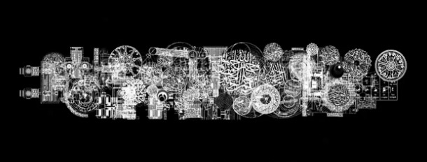Still from Mounir Fatmi's Modern Times: A History of the Machine, Jameel Prize 3 exhibition, V&A, London, 2013