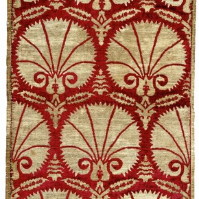 Velvet fabric with carnation pattern c1600-50