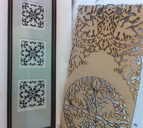 Cutwork pieces by Sarah Al Abdali