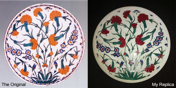 Iznik ceramic plate design