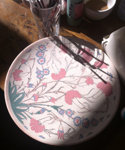 Iznik ceramic design class at PSTA