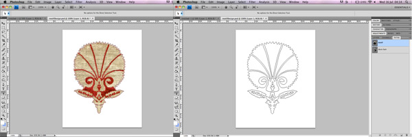 Preparing flower motif file