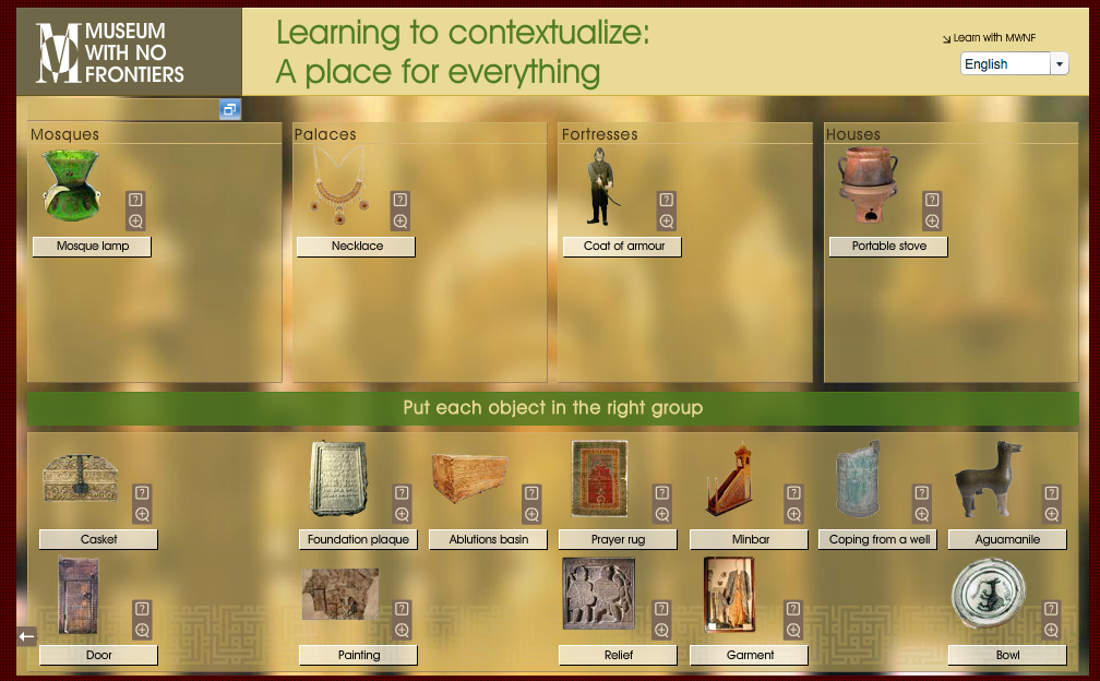 Interactive game Learn with Discover Islamic Art