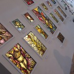 Display of Genista Dunham's stained glass works