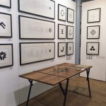 Jean-Baptiste de Mevius' display of Table and paintings in Chinese ink