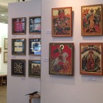 Display of Irina Bradley's Icon work